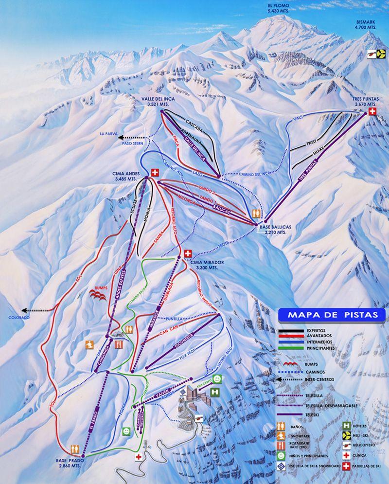 chilean ski centres - skifarellones