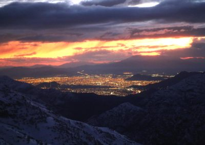 Vista Nocturna a Santiago